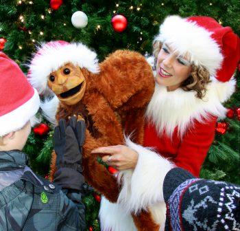 Affe bij Kerst