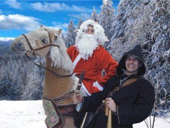 Kerstman in Galop!